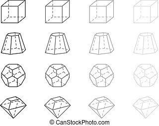 Geometry figures - Gray geometry figures