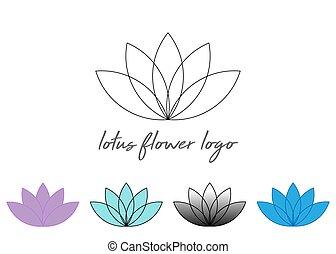 geometry., fleur, life., ligne, lotus, ésotérique, ornament., vecteur, blanc, sacré, coloré, ensemble, spirituel, ou, fond, isolé, symbols.