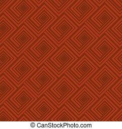 Geometry greek meander seamless pattern. quadratic brown...