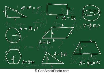 Geometry - Hand written scribble illustration - geometry...