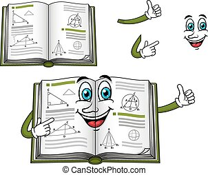 Geometry happy textbook cartoon character