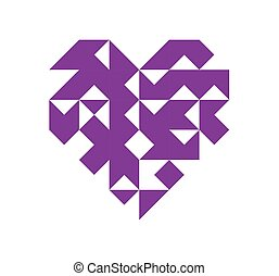 Geometry heart icon on a white background.