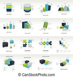 geometry  infographic template vector design