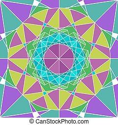 Geometry Mandala background.