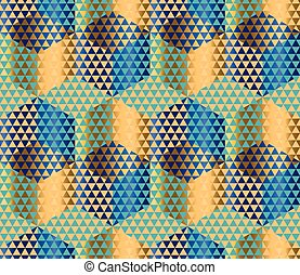 Geometry motif in luxury style seamless pattern vector...