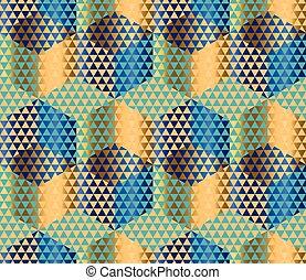 Geometry motif in luxury style seamless pattern vector...