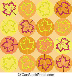 geometry pattern with maple leaves
