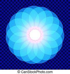 geometry., sacré, mandala., life., fleur, illustration, vecteur
