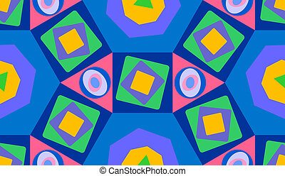 geometry - seamless background with multicolored basic...