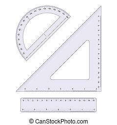 Geometry Set isolated on white background