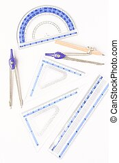 Geometry set isolated agains white