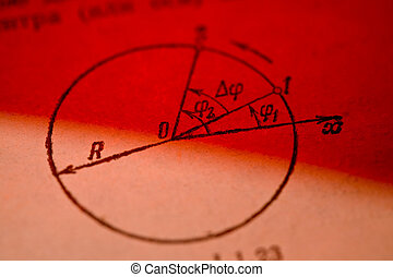 geometry - study series: trigonometry circle with angles on...