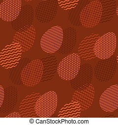 Geometry tracery on Easter egg in seamless pattern. Natural...