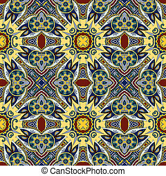 geometry vintage floral seamless pattern, ethnic style, you...
