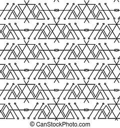 geometryczny, modny, seamless, pattern.