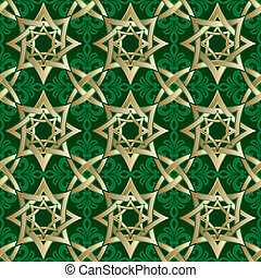 geometryczny, muslim, ozdoba