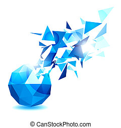 geometryczny, obiekt, projektować