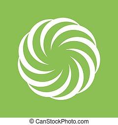geometryczny, symbol, formułować, spirala, twórczy, koło