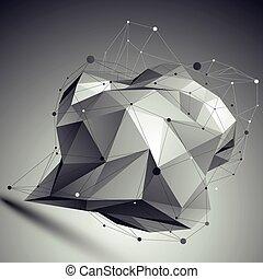 geometryczny, wektor, abstrakcyjny, 3d