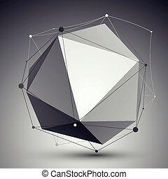 geometryczny, wektor, abstrakcyjny, obiekt, 3d