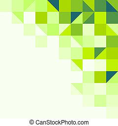 geometryczny, zielone tło