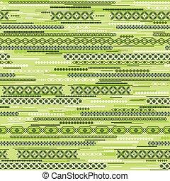 geometryczny, zielony, seamless