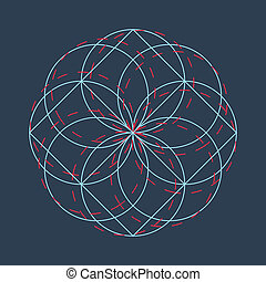 Abstract circle background. Geomtric simple art illustration