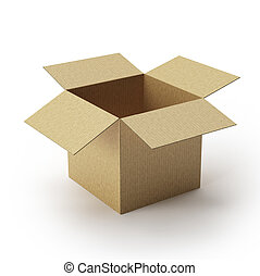 geopend, cartonbox, .