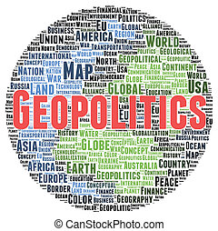 geopolitics, 形, 単語, 雲