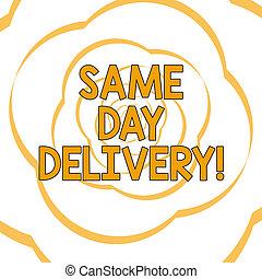 geordend, foto, papier, strook, ons, delivery., lint, uit, ...