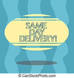 geordend, kleurenfoto, vorm, ovaal, ons, zwevend, delivery...