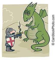 george de st, dragón