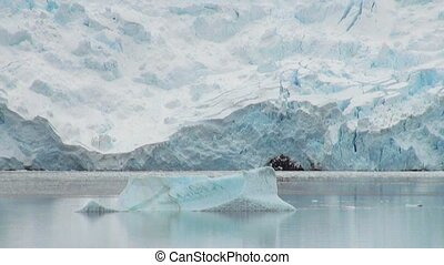 george, glace, roi, -, antarctique, île, littoral, formations