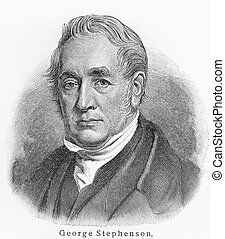 George Stephenson - Picture from Meyers Lexicon books...
