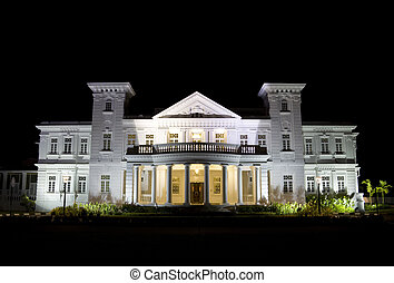 George Town Heritage Building at Night - An old residential...