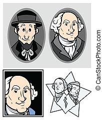 George Washington & Abraham Lincoln