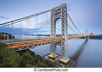 george washington brug, nieuw, york.