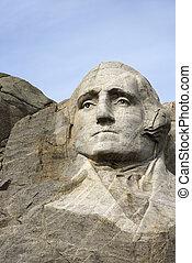 George Washington. - George Washington carved in granite at...