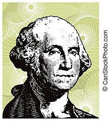 George Washington illustration.