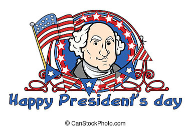 George Washington - Presidents Day - Showing George...