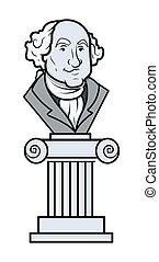 George Washington Sculpture Vector