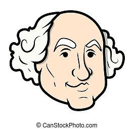 George Washington Vector Cartoon