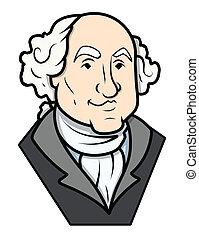 George Washington Vector Clip-art - George Washington Clip-...