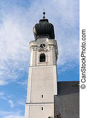 georgen, paroisse, rue., tour, église