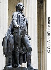 Georges Washington statue - Black statue of geoges...