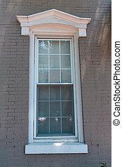 georgetown, fenêtre, washington dc, maisons urbaines