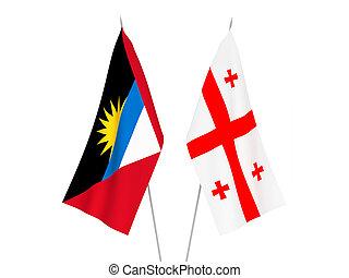 Georgia and Antigua and Barbuda flags - National fabric ...
