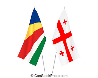 Georgia and Seychelles flags - National fabric flags of ...