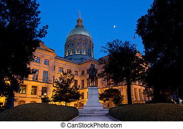 The Georgia State Capitol Building in Atlanta, Georgia.