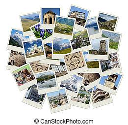 georgia, central, collage, señales, -, asia, fotos, ir, y